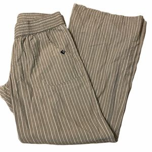 VOLCOM tan cream striped pants size small / 10